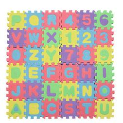 1 Set 36pcs Alphabet Letters Numbers Puzzle Foam Play Mats F