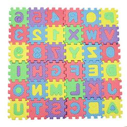 1 Set 36pcs New Alphabet Letters Numbers Puzzle Foam Play Ma