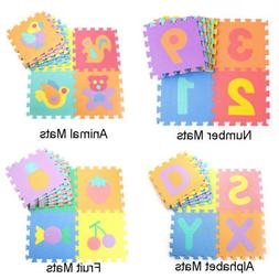10Pcs Soft EVA Foam Numbers Puzzle Mat Pad Floor Baby Kids T