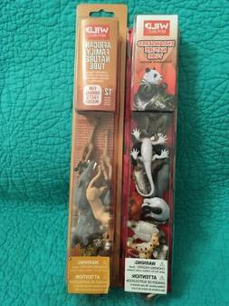 2 New Wild Republic Animal Tubes African Family 12pcs &Endan
