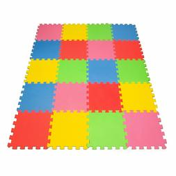 "Angels 20 pc XLarge Baby Play Mat, 12"" x 12"" ColorfulTiles,"