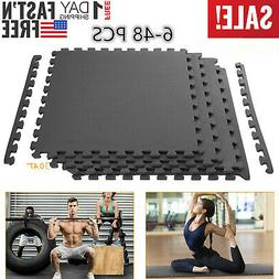 24-96 Sq Ft Interlocking Puzzle Rubber Foam Gym Fitness Exer