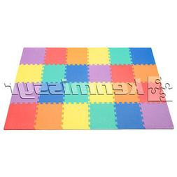 "24 SF MULTI COLOR 12"" TILES INTERLOCKING FOAM FLOOR PUZZLE M"