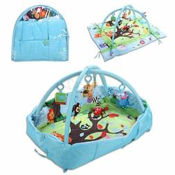 3 In 1 Baby Activity Gym Game Play Mat Infant Toddler Childr