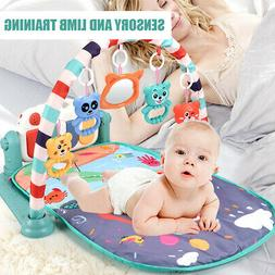 3 in 1 Baby Gym Play Mat Mat Fitness Activity Center Music P