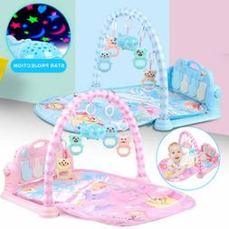 3 in 1 Baby Light Musical Gym Play Mat Lay Play Fitness Fun