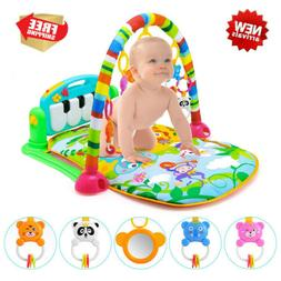 3-In-1 Baby Light Musical Gym Play Mat Lay & Play Fitness Fu