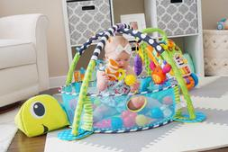 Paradise Treasures 3 in 1 Baby Play Mat with Balls-Plush Tur