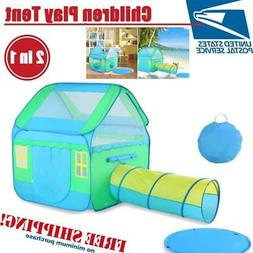 3 In 1 Large Kids Pop-Up Play House In/Outdoor Kids Play Ten