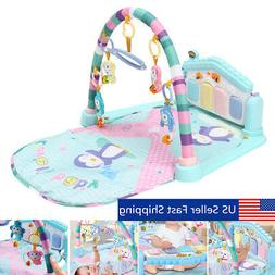 3 in 1 Newborn Infant Baby Musical Piano Play Mat Blanket Ki