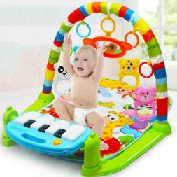 3 in1 Baby Gym Floor Play Mat Blanket Pedal Piano Musical Ki