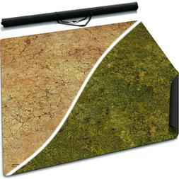 3' x 3' Double-Sided Mouse Pad Rubber Battle Mat: Meadows +