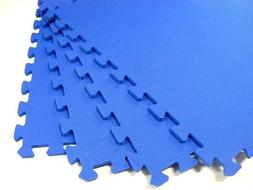 "We Sell Mats 120 Square Feet  Blue 2' x 2' x 3/8"" Anti-Fatig"
