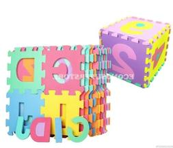 36 SQ FT LEARNING ABC/123 ALPHABET NUMBER FOAM PUZZLE PLAY M