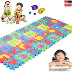 36pc alphabet numbers eva floor play mat