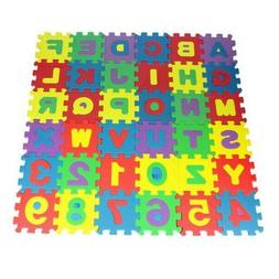 36pcs Alphabet Numbers EVA Floor play Mat Baby Kids Room Jig