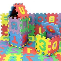 36pcs Baby Alphabet Number Mat  Soft Kids Mini EVA Foam For