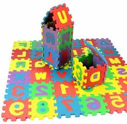 36Pcs Baby game pad Number Alphabet Puzzle Foam Floor Play M