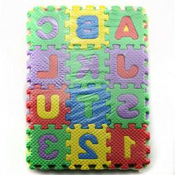 36pcs child cartoon letters numbers foam play