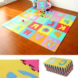36Pcs Educational EVA Floor Play Mat Baby Foam Puzzle Alphab