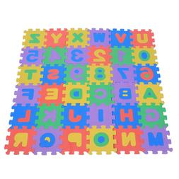 36pcs eva foam play mat number letters
