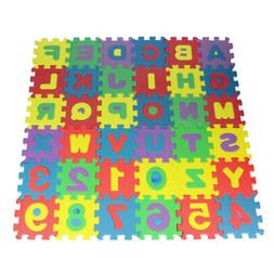 36pcs Foam Play Mat Puzzle Alphabet&Number Crawling Mat for