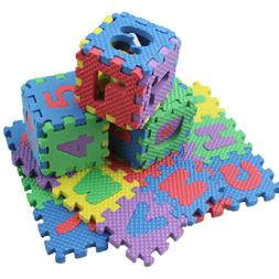36pcs foam puzzle numbers letters play mat