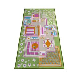 3D Kids Carpet Playmat Rug Play Time! Fun House For Play w/