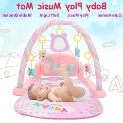4 in 1 Baby Light Musical Gym Play Mat Lay & Play Fitness Fu