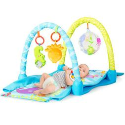 4-in-1 Kids Activity Gym Play Mat Baby Play Center 3 Educati