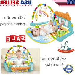 5-in-1 Baby Gym Floor Play Mat Musical Activity Center Kick