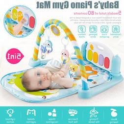 5-in-1 Baby Infant Educational Gym Activity Floor Play Mat P