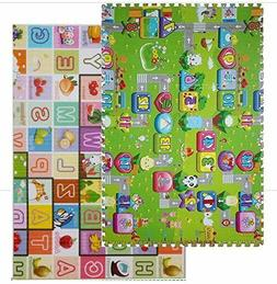 Alphabet & Monopoly Kids Play Mat Foam Mats Waterproof Non-S