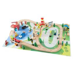 65 pc kids toys play wooden train