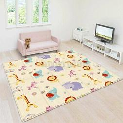 71''x39'' Double-Sided Large Baby Crawling Mat Waterproof Fo