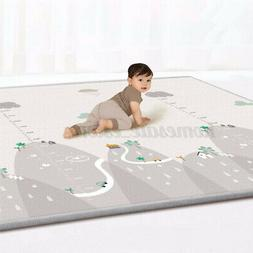 """78.74""""X70.86"""" Non-slip Play Mat 2 Sided Soft Waterproof Baby"""