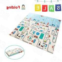 """79"""" Baby Play Mat Crawling Mat Foldable Non-Toxic Pad for In"""