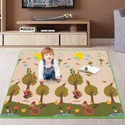 79''x59'' Foldable Waterproof Baby Kids Play Mat Reversible
