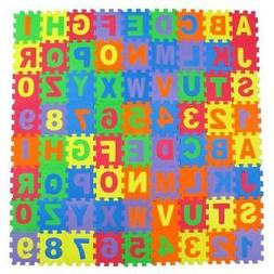 Alphabet Letters and Numbers Foam Puzzle Square Floor Mat, 6