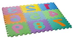 HemingWeigh Kid's Multicolored Numbers Puzzle Play Mat - Sof
