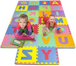 Matney Foam Mat of Alphabet Puzzle Pieces– Great for Kids