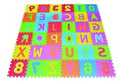 Poco Divo 36 Tiles EVA Foam Rainbow Letters and Numbers Puzz