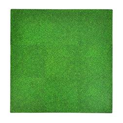 Tadpoles Soft EVA Foam 9 Piece Playmat Set, Grass Print, Gre