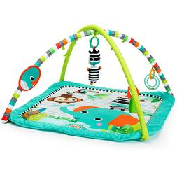 Baby Activity Gym Soft Floor Play Mat Animal Toy Bar Toddler