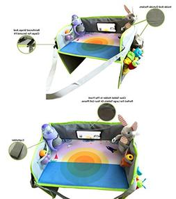 Kids Travel Activity Play Tray 2-in-1 Children Lap Mat and H