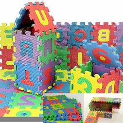 Alphabet & Numerals Mini Puzzle Baby Kids Play Educational T