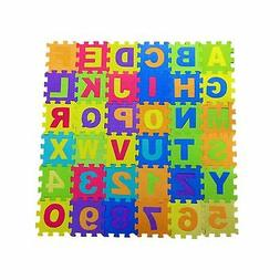 Alphabet and Numbers Foam Puzzle Play Mat,Non-Toxic EVA 36 P