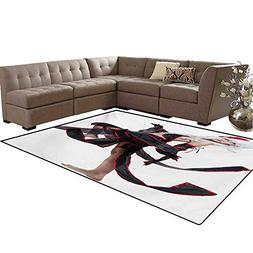 Anime Kids Carpet Play-mat Rug Posing Warrior Girl in Manga