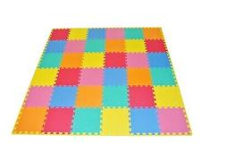 - ProSource Puzzle Solid Foam Play Mat for Kids