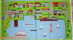 At the Harbor Sail Boat Lighthouse Connector Play Mat Map Fa